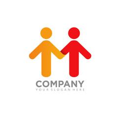 Initial M People Partnership Logo Icon 2
