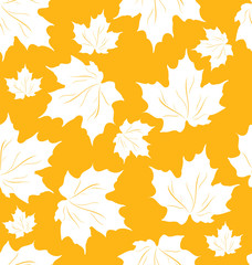 Seamless Pattern of Maple Leaves