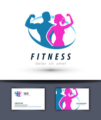 fitness vector logo design template. gym or sport icon