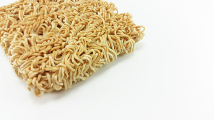 closed up instant noodle