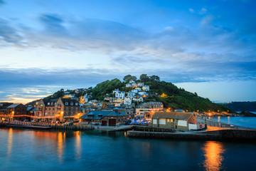 Looe bei Nacht, Cornwall - England
