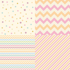 Geometric chevron pattern set