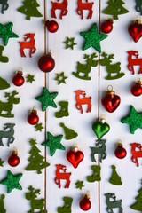 Weihnachtskarte - kleine Dinge - rot/grün - Dekoration