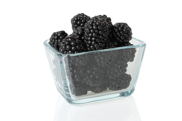 Blackberry in a glass cup