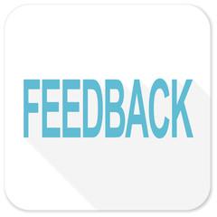 feedback blue flat icon