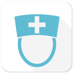 nurse blue flat icon