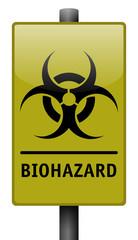 Realistic Biohazard Sign