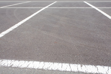 Empty Space in a car parking Lot..