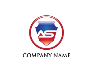 A & S Letter Shield Logo