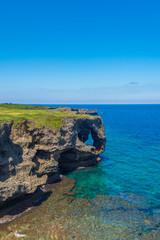 沖縄県 万座毛の景色