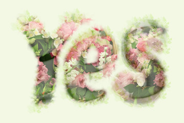 The Word Yes flower
