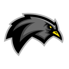 Blackbird sports mascot emblem
