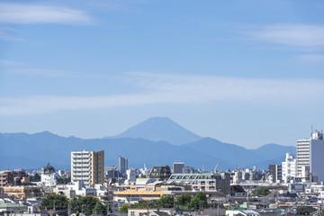 池袋方面から望む秋の富士山