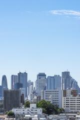池袋方面から望む新宿の高層ビル群