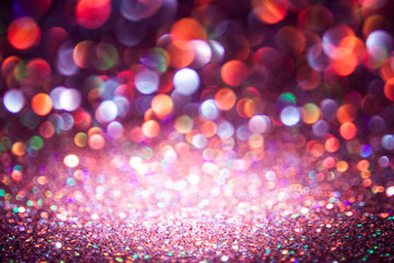 bokeh lights background with multi colors  motion blur.