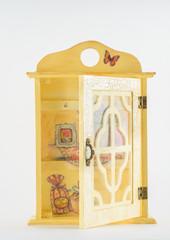 Doll wooden wardrobe