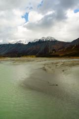 Wall Mural - Turquoise Water Gulkana River Flows by Alaska Range