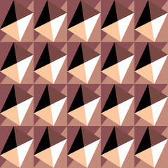 Seamless colorful decorative background with geometric shapes