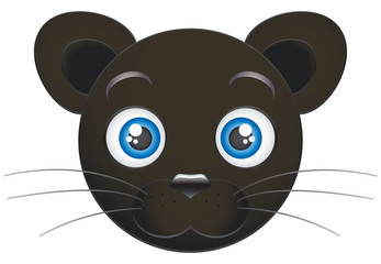 Cartoon panther cub – Stock Illustration
