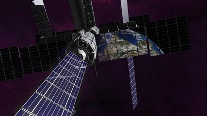 Exploration satellite into orbit around earth