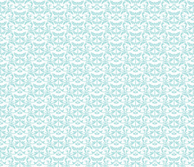 Classic style ornament damask pattern background in baby blue color. Vector