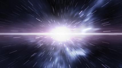 Futuristic timetravel or space warp