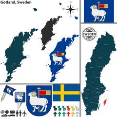 Map of Gotland, Sweden