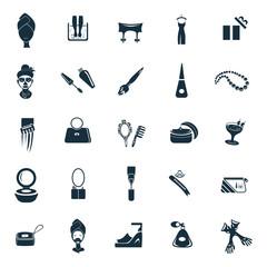 Set of twenty five beauty and fasion icons