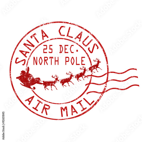 Quot Santa Claus Air Mail Stamp Quot Stock Image And Royalty Free