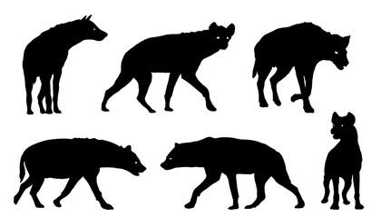 hyena silhouettes