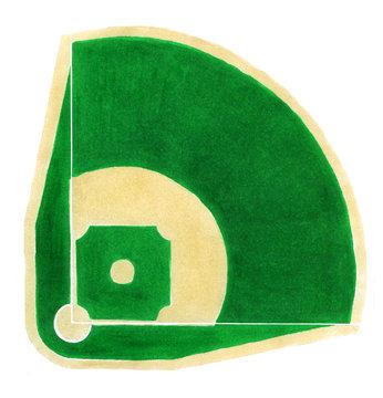 Baseball field. Hand-drawn baseball diamond on the white