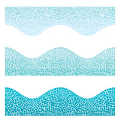 Seamless background wave mosaic of blue color/Vector seamless background mosaic in blue  color