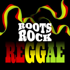 Roots Rock Reggae music design. Vector illustration