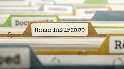 File Folder Labeled as Home Insurance