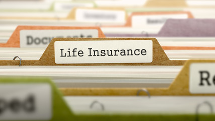 File Folder Labeled as Life Insurance