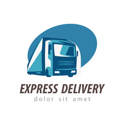 delivery vector logo design template. truck or lorry icon