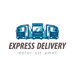 truck vector logo design template. traffic or delivery icon