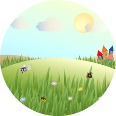 Vector picture of a fabulous summer meadows
