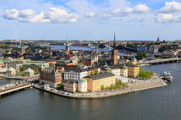 Stockholm City on a sunny day