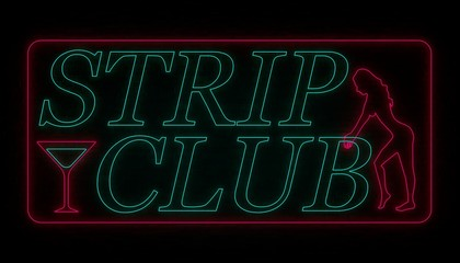 strip club wall neon, two color version