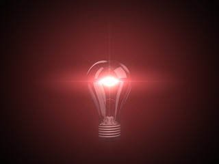glowing red lamp