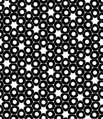 Vector modern seamless geometry pattern cells, black and white abstract geometric background, trendy print, monochrome retro texture, hipster fashion design