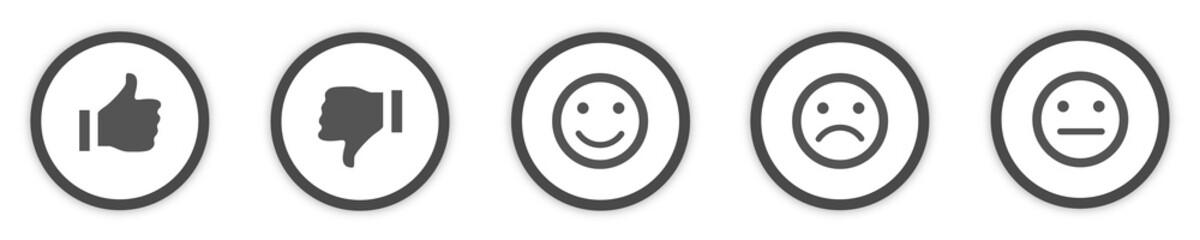 Obraz Icons Buttons grey Feedback  - fototapety do salonu