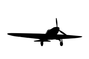 silhouette of the plane