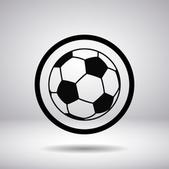 Silhouette of a soccer ball in the circle