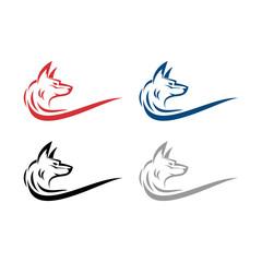 Simple Elegant Fox Line Art Illustration