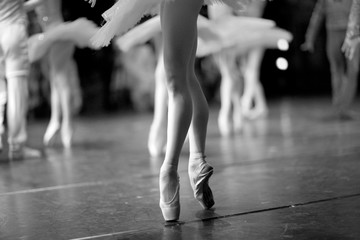 Long and lean ballet dancers legs
