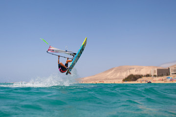 Windsurf Action Freestyle Wasser