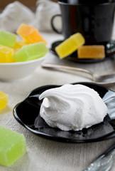 Vanilla marshmallow zephyr and fruit candies