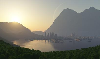 ciudad bajo fiordos